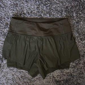 Green lulu lemon shorts